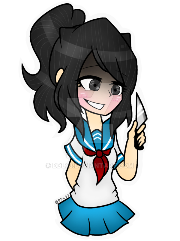 TRANSPARENT BACKGROUND:Ayano Aishi(2 drawing apps) by DDL23.