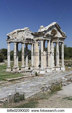 "Stock Photography of ""Tetrapylon or Propylon at the ancient."