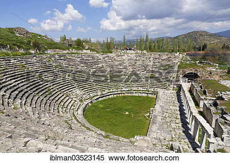 "Stock Image of ""Ancient theatre, Aphrodisias, Aydin province."