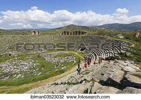 "Stock Photo of ""Ancient Stadium, Aphrodisias, Aydin province."