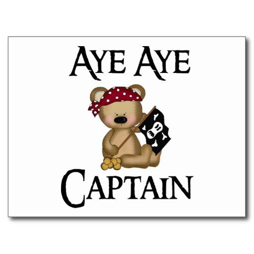Aye Aye Captain Clipart.