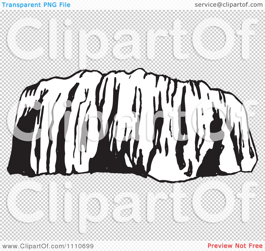 Clipart Black And White Ayers Rock Or Uluru In Australia.