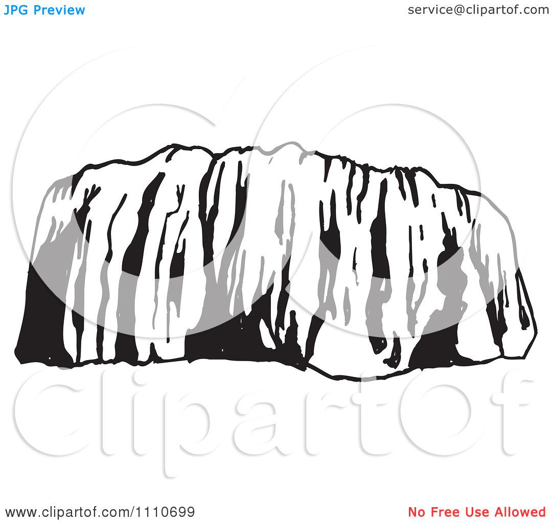 Clipart Black And White Ayers Rock Or Uluru In Australia.