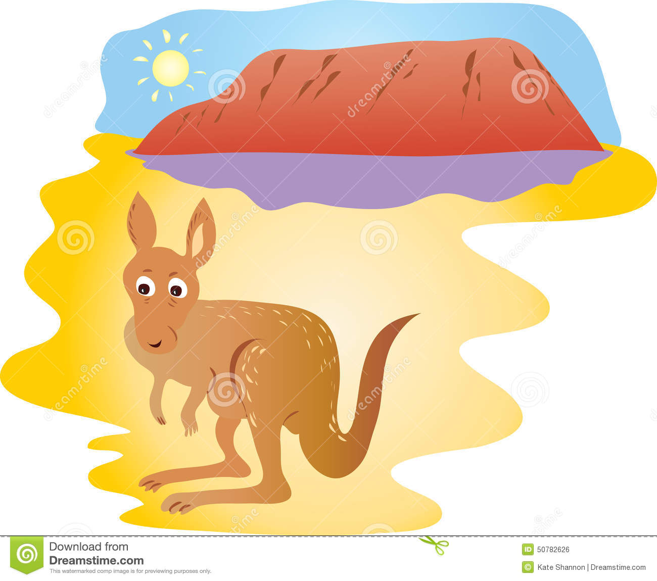 Uluru Ayers Rock Australia Stock Illustrations.