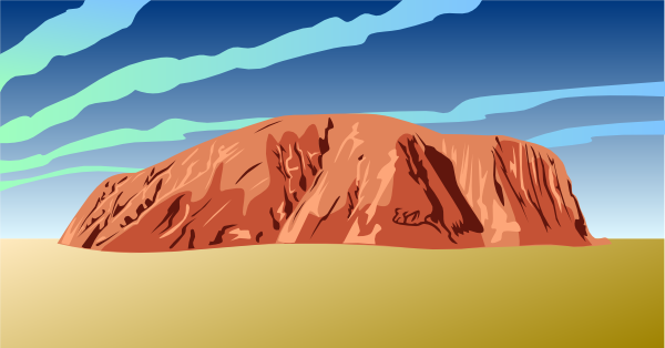 Ayers rock clipart.