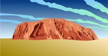 Red rock clipart #8