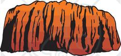 Clipart Illustration of Ayers Rock in Evening Light ~ CartoonsOf.com.