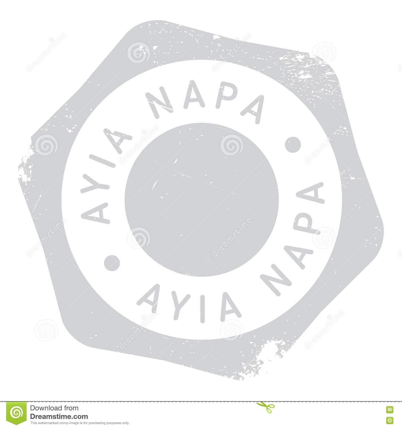 Ayia Napa Stamp Stock Vector.
