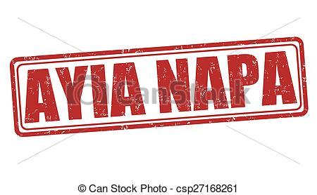 Clip Art Vector of Ayia Napa stamp.