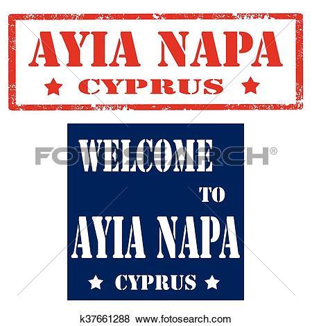 Clip Art of Ayia Napa.