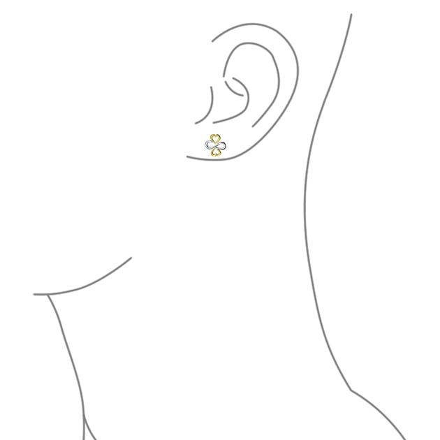 Luck Unity Infinity C14K Gold Plated Sterling Silver Stud Earrings.