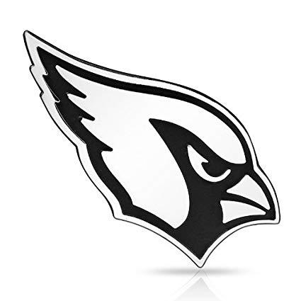 NFL Arizona Cardinals 3D Chrome Metal Car Emblem.