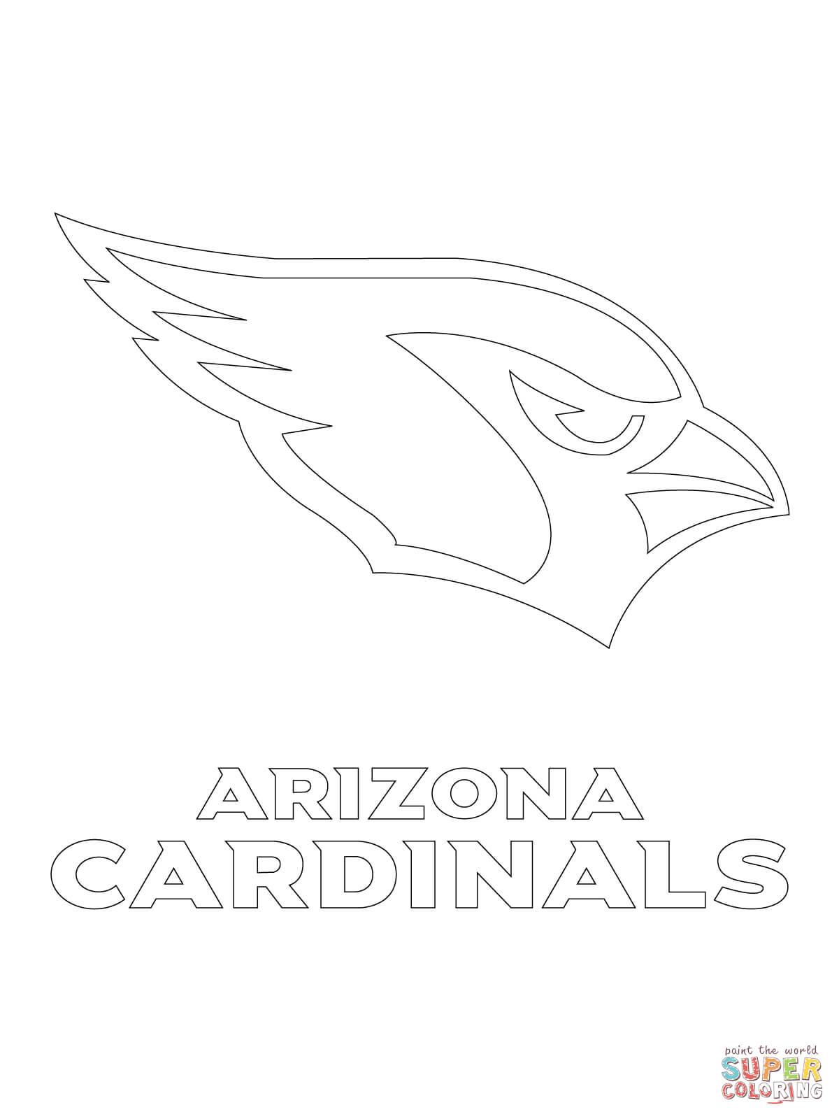 Arizona Cardinals Football Coloring Pages.