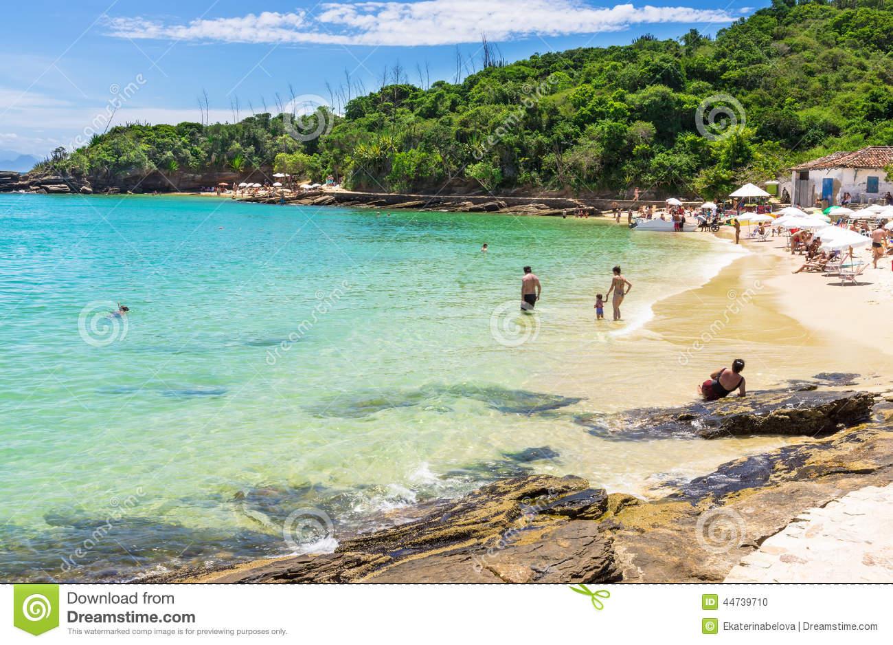 Azeda Beach In Buzios, Rio De Janeiro Stock Photo.