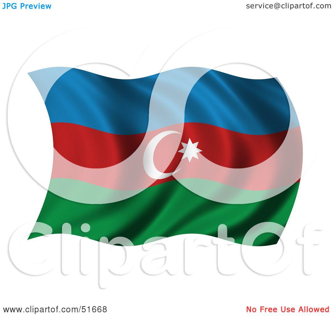 azerbaijan flag clipart.