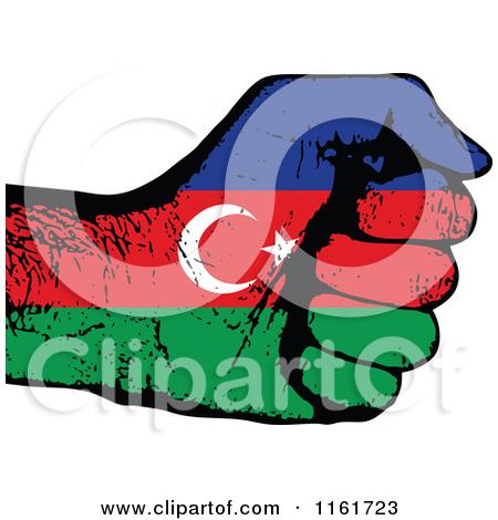 Clipart Of An Azerbaijan Flag Chat Balloon.