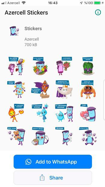 Azercell Stickers for Android.