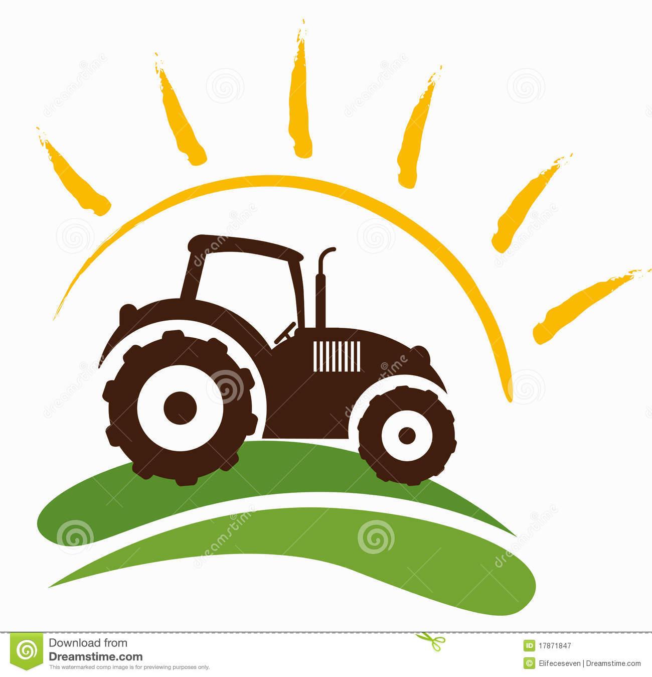 Simbolo Dell'azienda Agricola Fotografia Stock Libera da Diritti.
