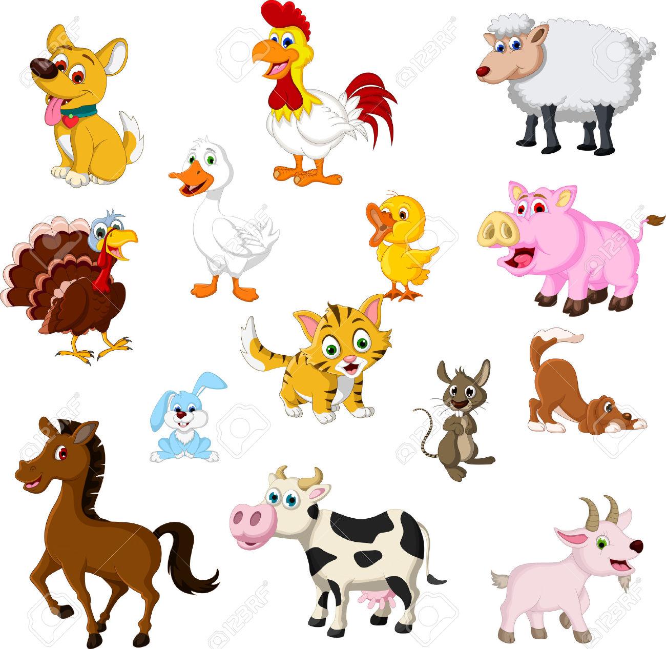 Azienda Agricola Di Raccolta Cartone Animato Animale Clipart.