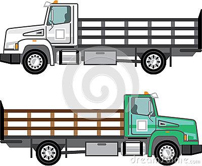 Clipart Del Camion Dell'azienda Agricola Illustrazione Vettoriale.
