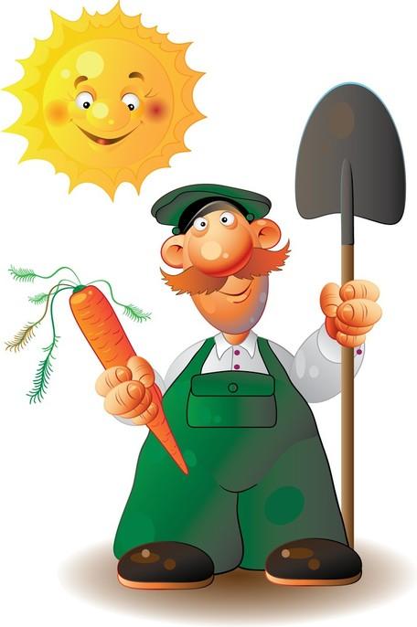 Lavoratori agricoli 03, Clip Art.