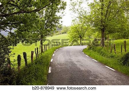 Stock Photograph of Country road, Elosua, Azkoitia, Guipuzcoa.