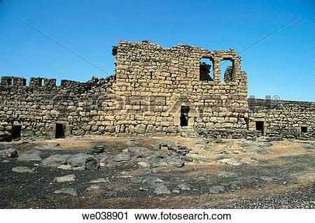 Stock Photography of Qasr Azraq fortress, Jordan we038901.