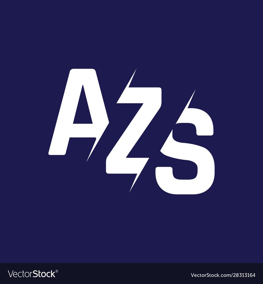 Monogram letters initial logo design azs.