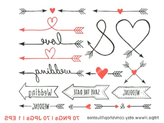 70 Wedding clip art, arrow clipart, wedding invitation, aztec.