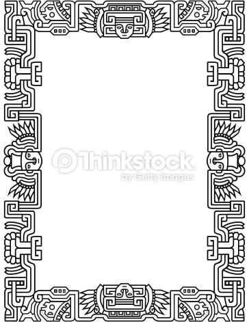 Aztec Border Clipart.