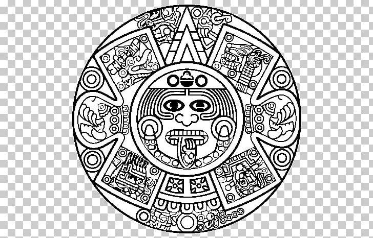 Aztec Calendar Stone Maya Civilization Drawing Mayan Calendar PNG.
