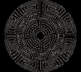 Aztec Circle Clip Art.