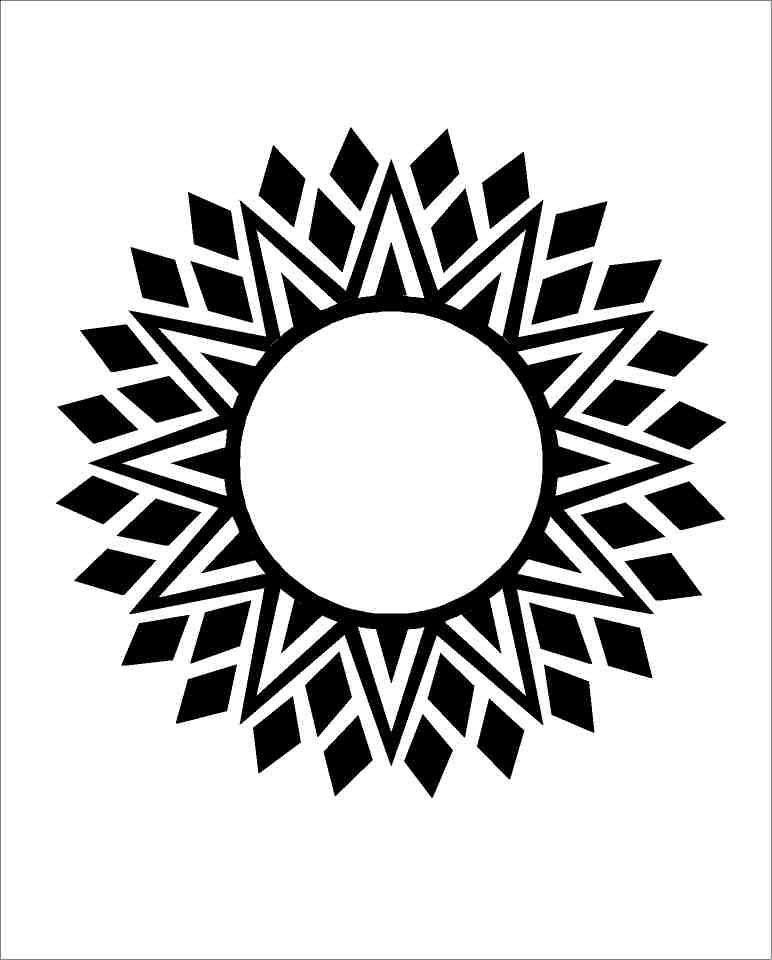 aztec star line art.