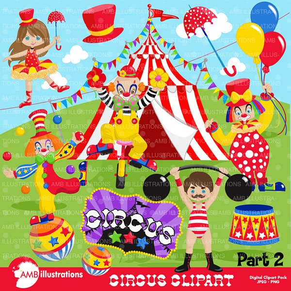 Clipart, Circus Clip art 2, AMB.