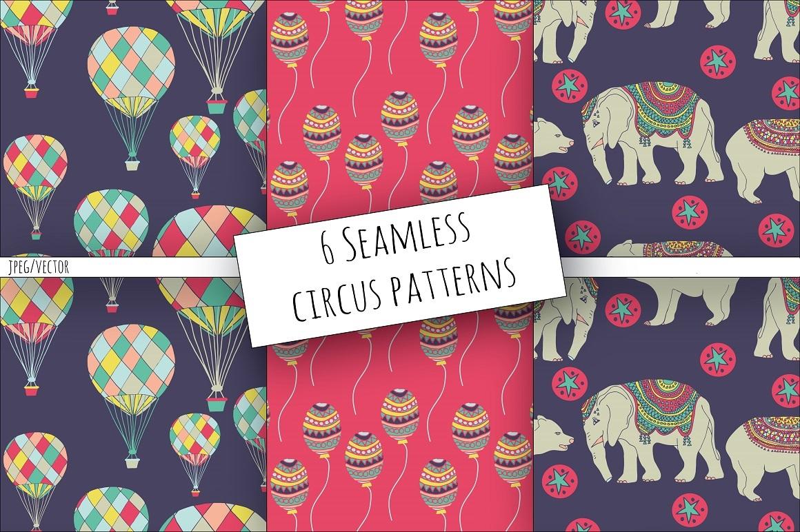 Aztec Circus Clipart & Digital Paper.