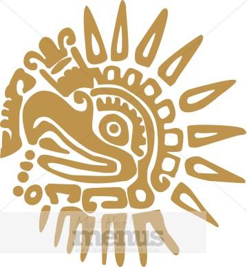 Aztec Clip Art and Menu Graphics.