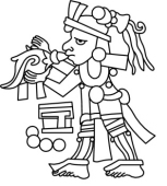 Clipart of aztec people.