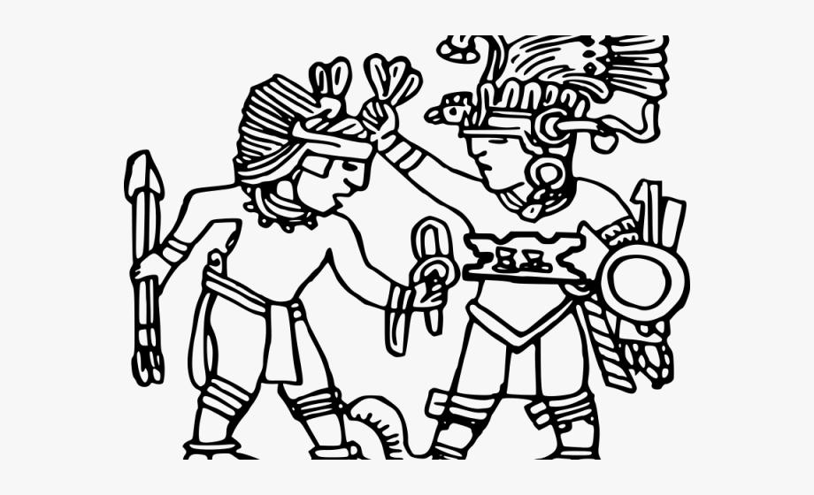 Aztec Clipart Dancing.