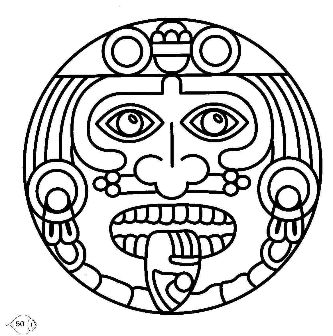 Aztec clipart face, Aztec face Transparent FREE for download.