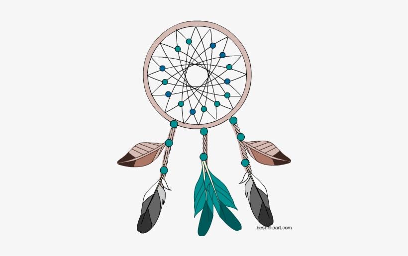Dreamcatcher Aztec Boho Free Clip Art Image.