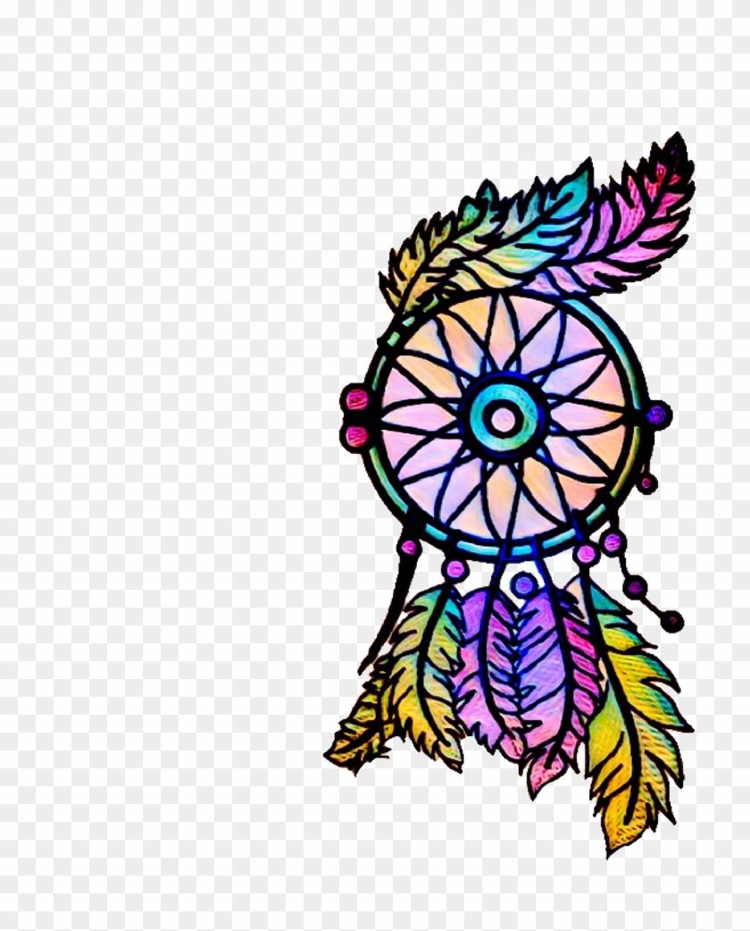 Ftestickers Dreamcatcher Colorful Aztec Boho Png Freest.