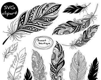 Digital feathers, Feathers Digital Clipart, Feather.