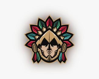 Aztec Mascot Logo Designed by ktxdesign22.