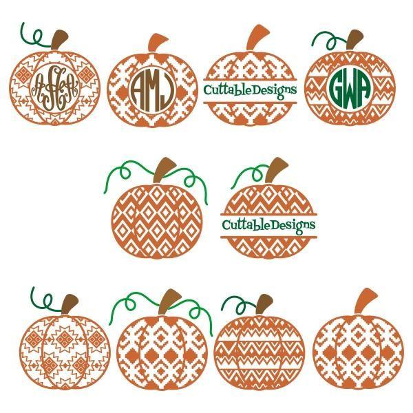 Pumpkin Aztec Pattern Svg Cuttable Designs.