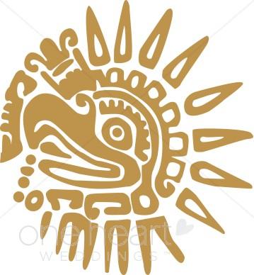 Aztec Sun Clipart.