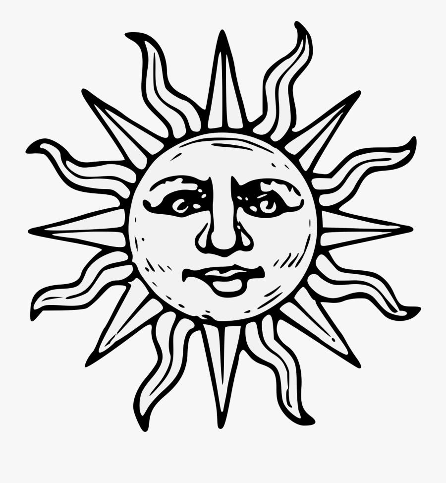 Transparent Aztec Sun Clipart.
