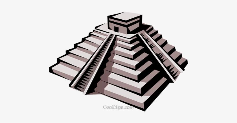 Inca Temple Royalty Free Vector Clip Art Illustration.