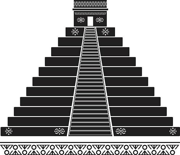 Best Aztec Temple Illustrations, Royalty.