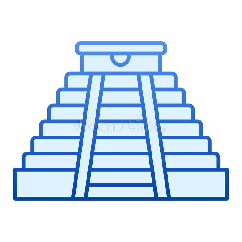 Aztec Temple Stock Illustrations.