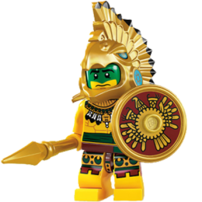Toy Aztec Warrior Icon PNG.